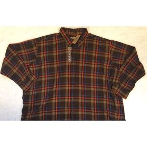 The Foundry Flannel Mens Plaid Shirt Size 5XL